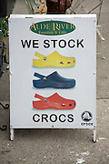 We Stock Crocs sign