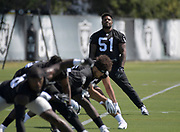May 28, 2019; Alameda, CA,  USA; Oakland Raiders  linebacker Vontaze Burfict (51) during organized team activities at the Raiders practice facility.