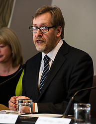 Pictured: Dr Donald MacAskill chaired the Hustings<br /> <br /> SNP Health Secretary Shona Robison, Labour's Richard Simpson, Ian McGill of the Tories, Lib Dem Katy Gordon and Pat Black of the Greens will debate social care issues. The event has been organised by care sector leaders who have drawn up a manifesto outlining the needs of the nation's ageing population in advance of the Scottish Parliament elections<br /> <br /> Ger Harley | EEm 18 April 2016