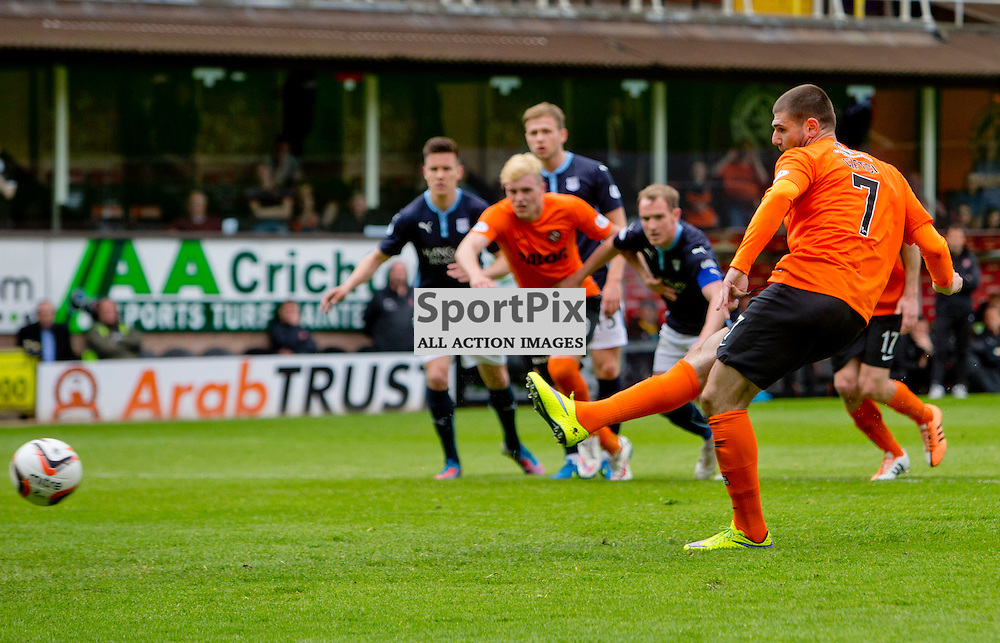 Dundee Utd v Dundee SPFL Premiership Tannadice Park 24 May 2015 <br /> Nadir Cifti scores from the spot to make it 2-0<br /> CRAIG BROWN | sportPix.org.uk