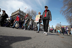 UK ENGLAND LONDON 25MAR17 - Thousands of protesters react as they walk past Downing Street during the March for Europe in central London.<br /> <br /> jre/Photo by Jiri Rezac<br /> <br /> © Jiri Rezac 2017