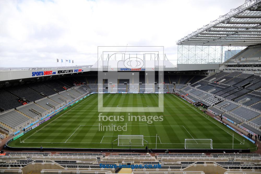A general view of St. James's Park prior to the Barclays Premier League match at St. James's Park, Newcastle<br /> Picture by Simon Moore/Focus Images Ltd 07807 671782<br /> 19/04/2015
