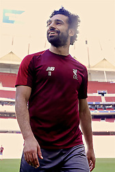 MADRID, SPAIN - Friday, May 31, 2019: Liverpool's Mohamed Salah during a training session ahead of the UEFA Champions League Final match between Tottenham Hotspur FC and Liverpool FC at the Estadio Metropolitano. (Pic by Handout/UEFA)