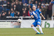 Hartlepool United defender Rob Jones in action during the Sky Bet League 2 match between Hartlepool United and Dagenham and Redbridge at Victoria Park, Hartlepool, England on 12 March 2016. Photo by George Ledger.