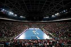 Arena Stozice during handball match between National teams of Slovenia and Poland of Qualifications for EURO 2012, on March 9, 2011 in Arena Stozice, Ljubljana, Slovenia. Slovenia defeated Poland 30-28. (Photo By Vid Ponikvar / Sportida.com)