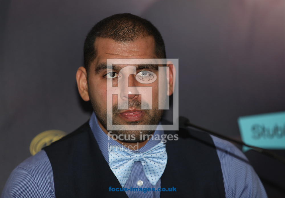 Eric Molina during the Joshua Molina press conference, prior to their IBF Heavyweight title fight this weekend, at Radisson Blu Edwardian Hotel, Manchester<br /> Picture by James Wilson/Focus Images Ltd 07709 548263<br /> 08/12/2016