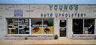 Auto upholstery store. Photograph by Roger M. Richards