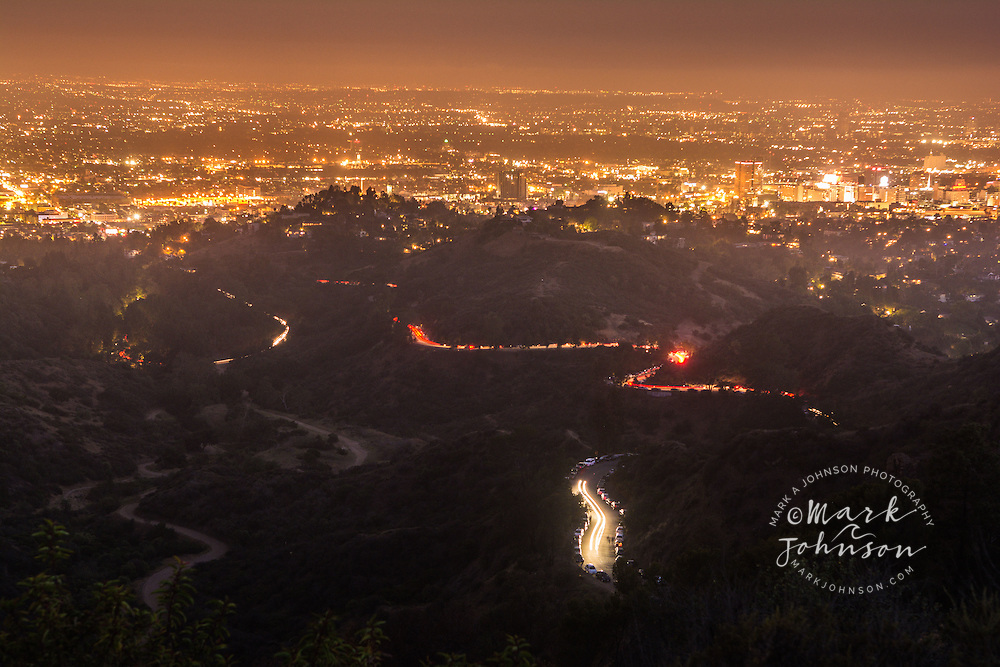 View of the Los Angeles area from Griffith Park,Los Angeles, California, USA