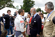 Lewis Hamilton; Prince Michael of Kent, The Cartier Style et Luxe Concours lunch at the Goodwood Festival of Speed. July 13, 2008  *** Local Caption *** -DO NOT ARCHIVE-© Copyright Photograph by Dafydd Jones. 248 Clapham Rd. London SW9 0PZ. Tel 0207 820 0771. www.dafjones.com.