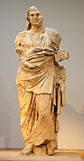 Colossal statue of a member of the Hekatomnid dynasty. Identified as Maussollos. Approximately 350 BC. Made from Pentelic marble.
