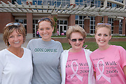 Mom's Weekend Walk for a Cure....Jo Hall, Amanda Wells, Kaye Wolfganger,.Jessica Wolfanger