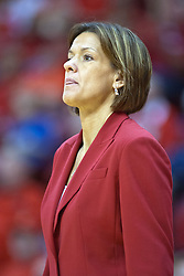 14 February 2010: Robin Pingeton. The Redbirds of Illinois State best the Bears of Missouri State 82-72 on Doug Collins Court inside Redbird Arena at Normal Illinois.