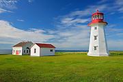 Lighthouse on Baie des Chaleurs<br /> Cap d'espoir<br /> Quebec<br /> Canada