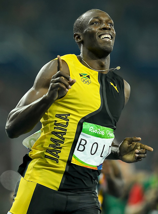 Jamaican sprinter Usain Bolt won the gold medal in the men's 100m final on Sunday at the Olympic Stadium during the 2016 Summer Olympics Games in Rio de Janeiro, Brazil.