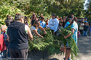 Salmon Blessing Ceremony by Lower Elwha Tribe members.