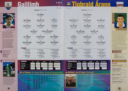 All Ireland Senior Hurling Championship - Final,.01.09.1996, 09.01.1996, 1st September 1996,.01091996AISHCF, .Wexford v Limerick,.Wexford 1-13, Limerick 0-14,.Galway, 1 Nigel Murray, Loughrea, 2 Enda Tannian, St Thoma's, 3 Michael Healy, Castlegar, 4 Kevin Coy, St Thomas's, 5 Cathal O'Reilly, Loughrea, 6 Ritchie Brady, Athenry, 7 Colin Coen, Ballindereen, 8 Anton Walsh, Castlegar, 9 Darren Shaughnessy, Turloughmore, 10 Paul Kennedy, Loughrea, 11 Eugene McEntee, Portumna, 12 David Loughrey, Gort, 13 Ronan Cullinane, Castlegar, 14 Eugene Cloonan, Athenry, 15 Aidan Poinard, Athenry, subs, 16 Mark Kerins, 17 Enda Linnane, 18 Martin Blake, 19 Gary Hurney, Turloughmore, 20 Shane McClearn, 21 Paul Finnerty, Mullagh, 22 Kenneth Cullinane, 23 Justin Cummins, Oranmore Maree, 24 Rory Gantly,..Tipperary, 1 Fergal Horgan, Knockavilla Kickhams, 2 Thomas Costello, Cappawhite, 3 Fergal Heaney, Knockavilla Kichams, 4 William Hickey, Boherlahan Dualla, 5 Nigel Cleere, Ballingarry Gaels, 6 John Carroll, Roscrea, 7 John Teehan, Gortnahoe Glengoole, 8 William Maher, Ballingarry Gaels, 9 Michael Ryan, Templederry Kenyons, 10 Sean Ryan, Cappawhite, 11 Donnacha Fahey. St Mary's, 12 Paul Kelly, Mullinahone, 13 Aidan Doyle, JJ Brackens, 14 Eugene O'Neill, Cappawhite, 15 MIchael Kennedy, Clomoulty Rossmore, subs, 16 Jason Connolly, 17 Eddie Carey, 18 Declan Browne, 19 Mark Cummins, 20 Paddy O'Brien, 21 Paul Lonergan, 22 Thomas Keane, 23 Michael McGrath, 24 Ronan O'Donoghue,