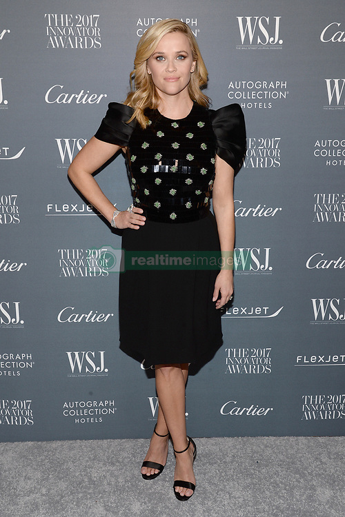 Actress Reese Witherspoon attends the WSJ. Magazine 2017 Innovator Awards at MOMA in New York, NY, on November 1, 2017. (Photo by Anthony Behar/Sipa USA)