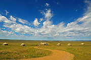 Yurt Camp on the Great Plains of Montana at American Prairie Reserve. South of Malta in Phillips County, Montana.
