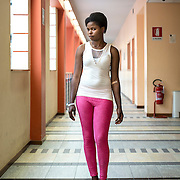 Blessing, a 22 year old Nigerian girl victim of trafficking, having STD(sexually transmitted diseases) tests at the Asti Hospital.