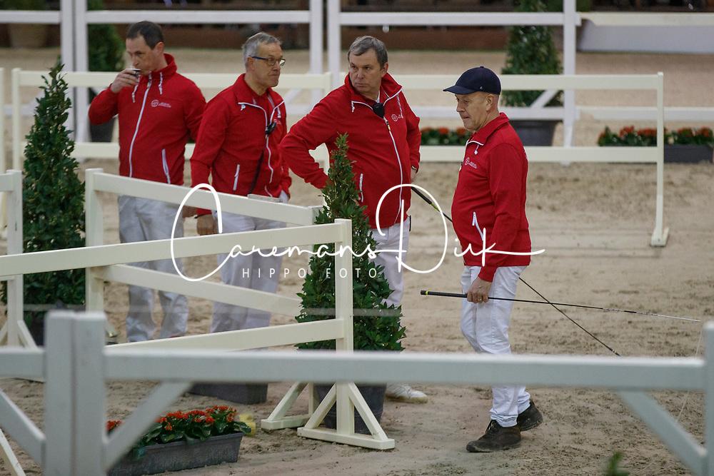 Redde Ruben, Govaerts Jef, Lenaerts Gust, Arnauts Herman<br /> Hengstenkeuring BWP - Lier 2018<br /> © Hippo Foto - Dirk Caremans<br /> 20/01/2018
