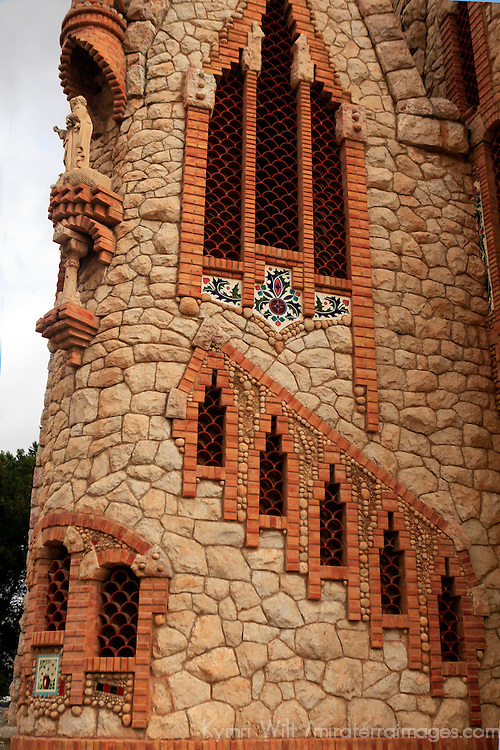 Europe, Spain, Novelda. Santa María Magdalena, built by disciple of Gaudi.