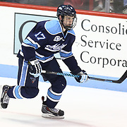 Andrew Tegeler #17 of the Maine Black Bears on the ice during the game at Matthews Arena on February 22, 2014 in Boston, Massachusetts. (Photo by Elan Kawesch)