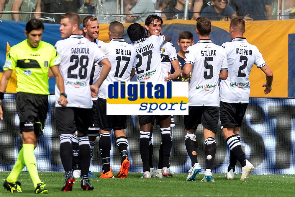 Esultanza gol Roberto Inglese Parma 1-0 Goal celebration <br /> Parma 22-09-2018 Stadio Ennio Tardini Football Calcio Serie A 2018/2019 Parma - Cagliari <br /> Foto Andrea Staccioli / Insidefoto
