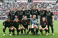 Fotball<br /> UEFA Cup<br /> 20.09.2007<br /> Foto: Witters/Digitalsport<br /> NORWAY ONLY<br /> <br /> Lagbilde Bayern München<br /> FC Bayern Muenchen hinten v.l. Martin Demichelis, Lucio, Marcell Jansen, Luca Toni, Mark van Bommel, Bastian Schweinsteiger vorne v.l. Ze Roberto, Lukas Podolski, Franck Ribery, Oliver Kahn, Christian Lell<br /> <br /> UEFA-Cup 1. Runde FC Bayern München - Belenenses Lisboa