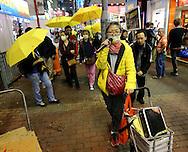Umbrella Movement, Mong Kok, Friday, March 27, 2015. (TREVOR HAGAN)