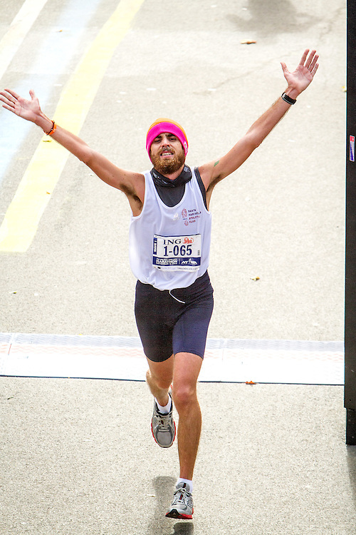 ING New York CIty Marathon: Luca Tassarotti, Italy crosses finish line