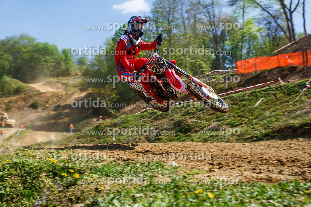 Tim Gajser #243 of Slovenia during motocross race for Slovenian national championship in Prilipe, Brezice, Slovenija on 9th of April, 2017, Slovenia. Photo by Grega Valancic / Sportida