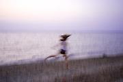 ITALY / Sicily - Franca on the beach dancing ... 07/2012 © Christian Jungeblodt