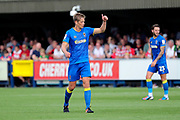 AFC Wimbledon defender Paul Robinson (6) thumbs up during the EFL Sky Bet League 1 match between AFC Wimbledon and Doncaster Rovers at the Cherry Red Records Stadium, Kingston, England on 26 August 2017. Photo by Matthew Redman.