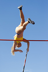July 10, 2018 - Tampere, Suomi Finland - 180710 Friidrott, Junior-VM, Dag 1: Lisa Gunnarsson, SWE competes in women's Pole Vault during the IAAF World U20 Championships day 1 at the Ratina stadion 10. July 2018 in Tampere, Finland. (Newspix24/Kalle Parkkinen) (Credit Image: © Kalle Parkkinen/Bildbyran via ZUMA Press)