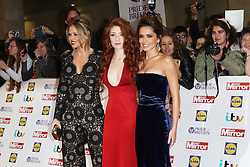 Kimberley Walsh, Nicola Roberts, Cheryl Fernandez-Versini, Girls Aloud, Pride of Britain Awards, Grosvenor House Hotel, London UK. 28 September, Photo by Richard Goldschmidt /LNP © London News Pictures