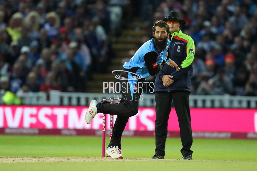 Worcestershire Rapids Moeen Ali during the final of the Vitality T20 Finals Day 2018 match between Worcestershire rapids and Sussex Sharks at Edgbaston, Birmingham, United Kingdom on 15 September 2018.