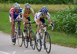 Blaz Jarc, Uros Silar and Borut Bozic at Slovenian National Championships in Road cycling, 178 km, on June 28 2009, in Mirna Pec, Slovenia. (Photo by Vid Ponikvar / Sportida)