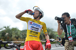 September 24, 2017 - Zhuhai, Guangdong, China - Kevin Rivera Serran from Androni Sidermec Bottecchia team at the end of the fifth and final stage after he wins the General Classement of the 2017 Tour of China 2. .On Sunday, 24 September 2017, in Hengqin district, Zhuhai City, Guangdong Province, China. (Credit Image: © Artur Widak/NurPhoto via ZUMA Press)