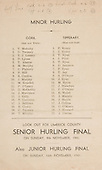 26.10.1941 Munster Minor Hurling Final, held at Croke Park, Dublin, Ireland.