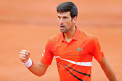 May 30, 2019 - Paris, France - Novak Djokovic (SRB) celebrates the first set during the French Open Tennis at Stade Roland-Garros, Paris on Thursday 30th May 2019. (Credit Image: © Mi News/NurPhoto via ZUMA Press)
