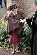 Hare Koninklijke Hoogheid Prinses Alexia, de jongste dochter van Zijne Koninklijke Hoogheid de Prins van Oranje en Hare Koninklijke Hoogheid Prinses M&aacute;xima, is zaterdag 19 november 2005 gedoopt in de Dorpskerk in Wassenaar. <br /> <br /> Baptism of Princess Alexia, the youngest daughter of Prince Willem-Alexander and Princess M&aacute;xima. Princess Alexia (born June 26, 2005) has been baptized in the church in Wassenaar. The ceremony was attended by The Dutch Royal Family and the parents of Princess M&aacute;xima.  <br /> <br /> Op de foto / On the photo:<br /> <br /> Koningin Beatrix / Queen Beatrix