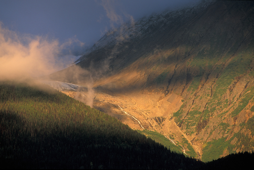 Coast Mountains and Kathlyn Glacier near Smithers, British Columbia, Canada
