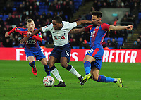 Football - 2018 / 2019 Emirates FA Cup - Fourth Round: Crystal Palace vs. Tottenham Hotspur<br /> <br /> Kyle Walker - Peters of Tottenham is challenged by Andros Townsend and Max Meyer, at Selhurst Park.<br /> <br /> COLORSPORT/ANDREW COWIE