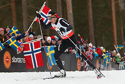 25.02.2015, Lugnet Ski Stadium, Falun, SWE, FIS Weltmeisterschaften Ski Nordisch, Falun 2015, Langlauf, Herren, 15km, im Bild JONAS BAUMANN // during the Mens 15km Cross Country Race of the FIS Nordic Ski World Championships 2015 at the Lugnet Ski Stadium in Falun, Sweden on 2015/02/25. EXPA Pictures © 2015, PhotoCredit: EXPA/ Newspix/ Radoslaw Jozwiak<br /> <br /> *****ATTENTION - for AUT, SLO, CRO, SRB, BIH, MAZ, TUR, SUI, SWE only*****