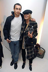 ALEX DELLAL and ANITA PALLENBURG at an exhibition of paintings by artist Rene Richard at the Scream Gallery, Bruton Street, London on 3rd April 2008.<br />