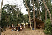 Tourists lodge. Photographed at the Queen Elizabeth National Park, Ishasha Sector, Uganda