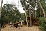 Tourists lodge. Photographed at the Queen Elizabeth National Park, Ishasha Sector, Uganda