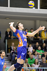 Jan Kozamernik of ACH during volleyball game between OK Panvita Pomgrad and ACH Volley in 2nd semifinal match of  Slovenian National Championship 2015, on April 5, 2015 in Murska Sobota, Slovenia. Photo by Mario Horvat / Sportida