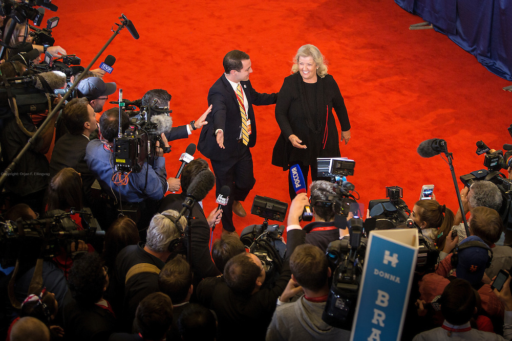 Images from the spin room after the Presidential Debate in St. Louis between Donald J. Trump and Hillary Clinton.