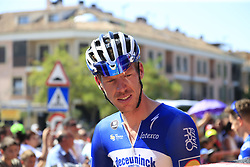 Tim Declercq (BEL) Deceuninck-Quick Step at sign on before the start of Stage 5 of La Vuelta 2019 running 170.7km from L'Eliana to Observatorio Astrofisico de Javalambre, Spain. 28th August 2019.<br /> Picture: Eoin Clarke | Cyclefile<br /> <br /> All photos usage must carry mandatory copyright credit (© Cyclefile | Eoin Clarke)